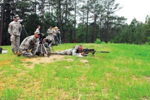 Also not a Benning range. Not our rifle, either - that's a sniper rifle. But its a cool picture, now ain't it?